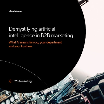 Demystifying artificial intelligence in B2B marketing image