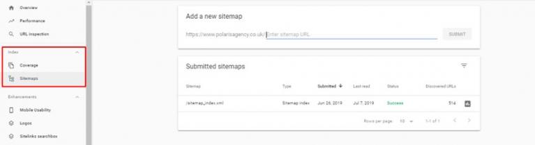 Google Search Console screenshot image