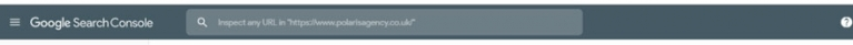Google Search Console toolbar image