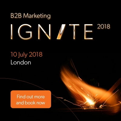B2B Marketing Ignite 2018 image with button