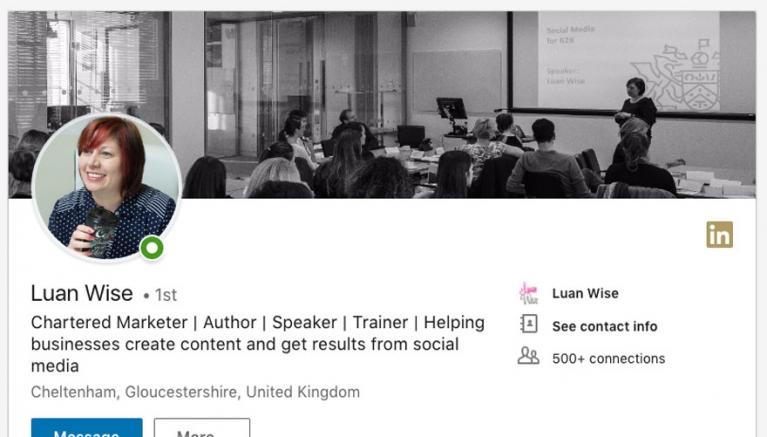 Luan Wise LinkedIn profile