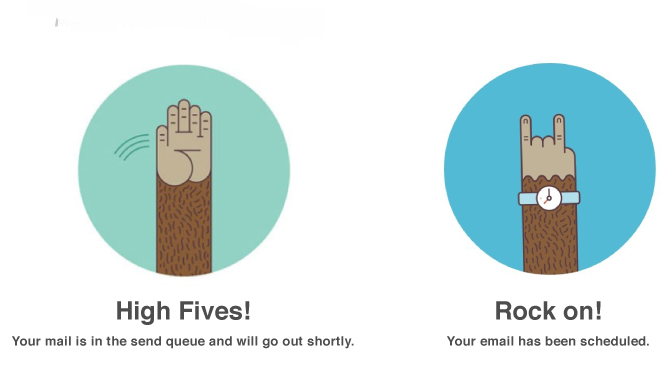 3 examples of MailChimp's brilliant tone of voice