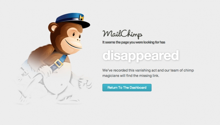 Mailchimp page disappeared image
