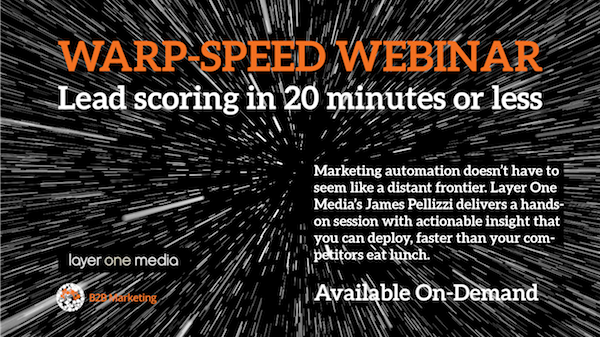 Warp Speed Webinar Lead Scoring Image