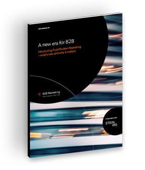 A new era for B2B – introducing post-modern marketing cover