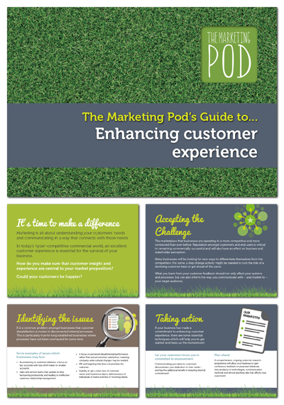 Pod's guide to customer experience