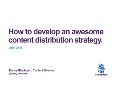 How to develop an awesome content distribution strategy
