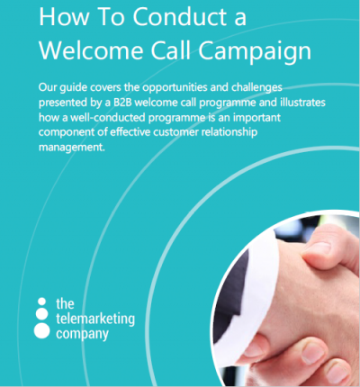 How to conduct a welcome call campaign