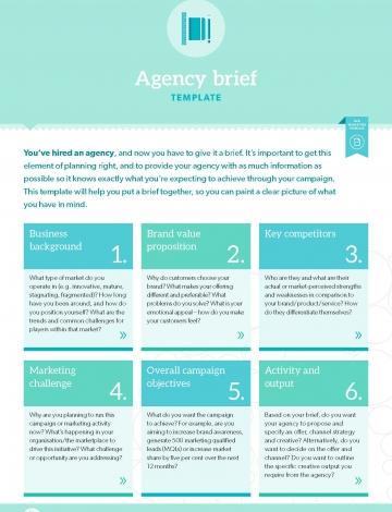 TEMPLATE Agency Brief BB Marketing - Marketing brief template
