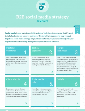 TEMPLATE: B2B social media strategy | B2B Marketing