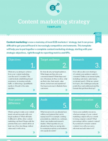 TEMPLATE: Content marketing strategy   B2B Marketing
