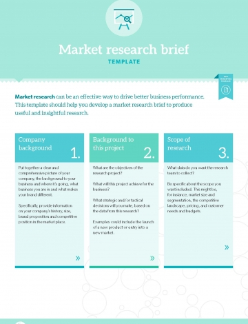Template market research brief b2b marketing for Market research document template