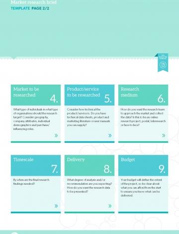 TEMPLATE: Market research brief | B2B Marketing