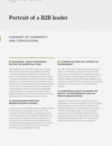 B2B leaders roundtable comments and conclusions