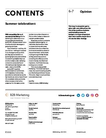 B2B Marketing Magazine Q1 17/18