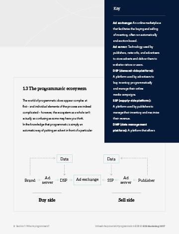 Programmatic premium guide inside image