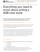 Everything you need to know about writing a B2B case study
