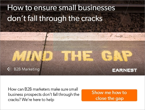 Ensuring small businesses don't fall through the cracks in your marketing and sales
