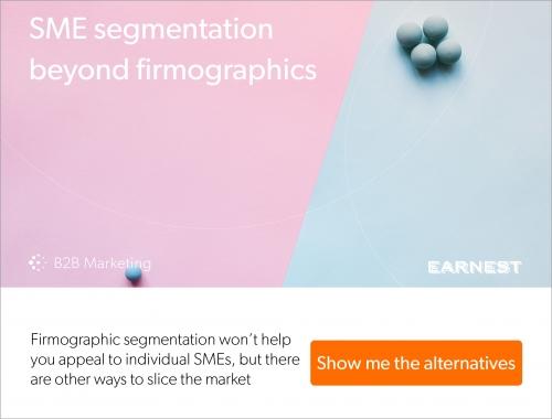 All SMEs ain't the same – segmentation beyond firmographics