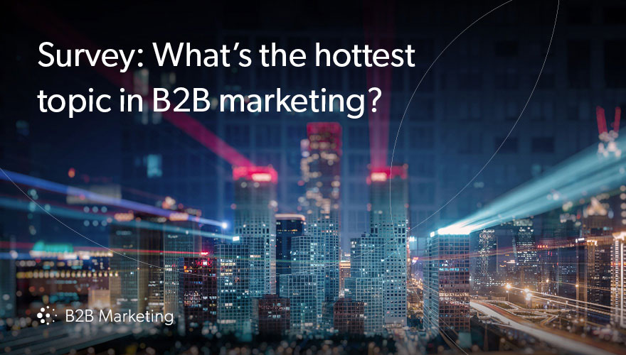 What's the hottest topic in B2B marketing? Amazon Echo image